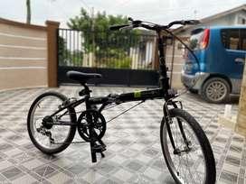 Sepeda Lipat Dahon Helios D6 Hitam