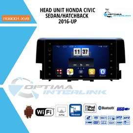 HEAD UNIT ANDROID OEM HONDA CIVIC SEDAN / HATCHBACK TAHUN 2016-2019