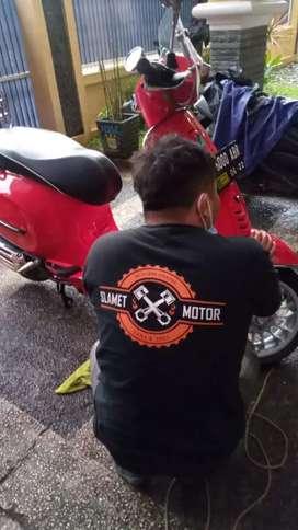 nano coating motor salon motor poles motor cutting stiker motor DETAIL