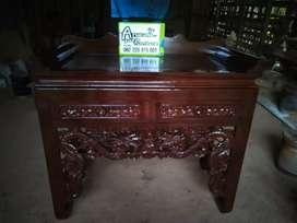 Meja sembayang china ukir material kayu jati ajf143