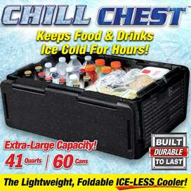 Chill Chest Cooler Car Insulated Box - Black