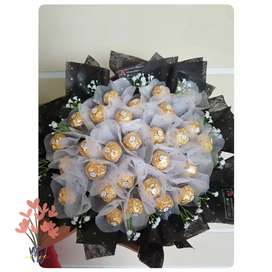 Buket coklat chocolate bouquet ferrero bouquet bisa custom