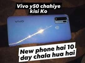 20days old mobile Vivo y50 8gb ram 128gb