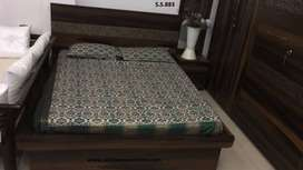 Brand new Brown color queen Size bed with storage facility