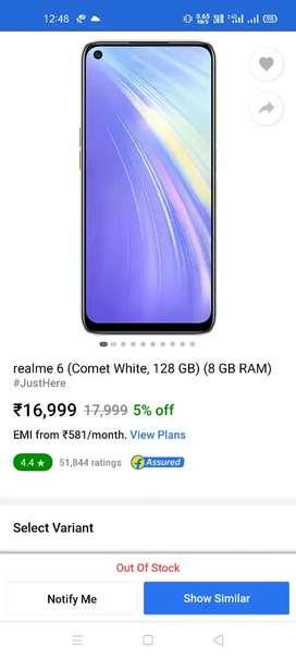 Realme 6 Comet Blue 8GB 128 GB