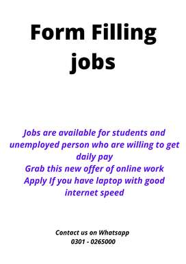 Authentic home base form filling jobs, students, unemployed