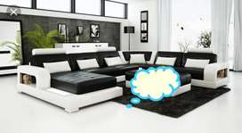 Awesome black leather couch set black and white brand new sofa set sel