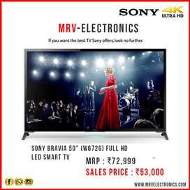 """SONY 50"""" (W672G) 4K SMART LED TV WITH 1 YEAR WARRANTY"""