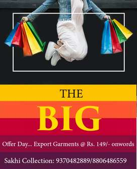 Export Garment at Rs. 149/ onwords