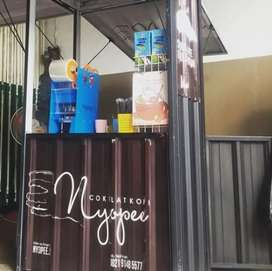 hanya hari ini,cicilan 6bln franchise es coffee booth container