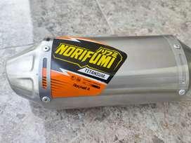 Knalpot Norifumi Rocket 4 Titanium Kompetisi KLX Dtracker 150