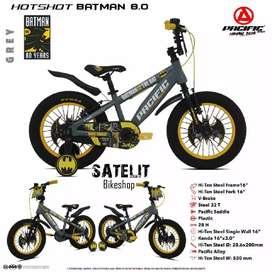 Sepeda BMX Anak Cowok Ukuran 16 dan 18 Inch Pacific Batman 3.0 /8.0