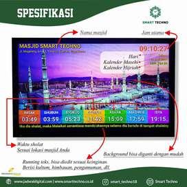 Dijual Jam Masjid TV LED Terbaru Untuk Masjid Kota Surabaya