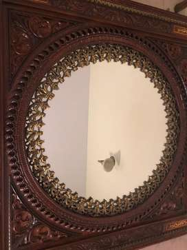 Beautifully crafted mirror with intricate in lay work