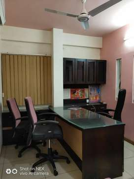 Ground floor office available fully furnished 2 cabin 3 cubical 12 set