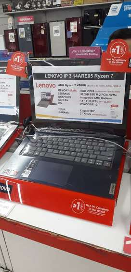 Lenovo IP3 14 ARE05 RYZEN 7, Cicilan tanpa CC