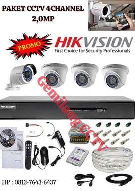 CCTV Hikvision Paket Complit 4Camera 2MP