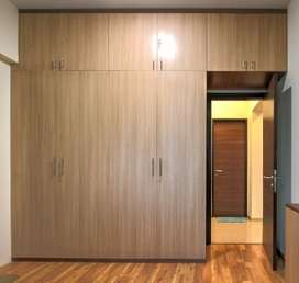 Brown Wooden Cabinet With Loft