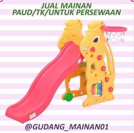 Mainan Indoor Playground Perosotan, Kulintang Dan Ring Basket Murah