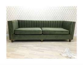 Sofa Tamu 3 Dudukan Hijau Modern Lucas