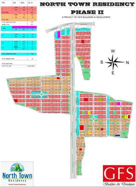 3 Side Corner Residential Plots in North Town Residency Phase-2