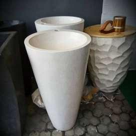 Washtafel Handmade Terazzo Unik Silinder T80cm