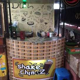 "booth kayu gerobak rombong bekas franchise ""CAPCIN"" murah bsa nego aj"