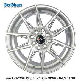 Velg Pro Racing R15x7 PCd 4x114.3 ET 38 untuk Mobil Citty, Mibilio