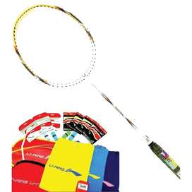 raket badminton lining ss21 g5 white/grey