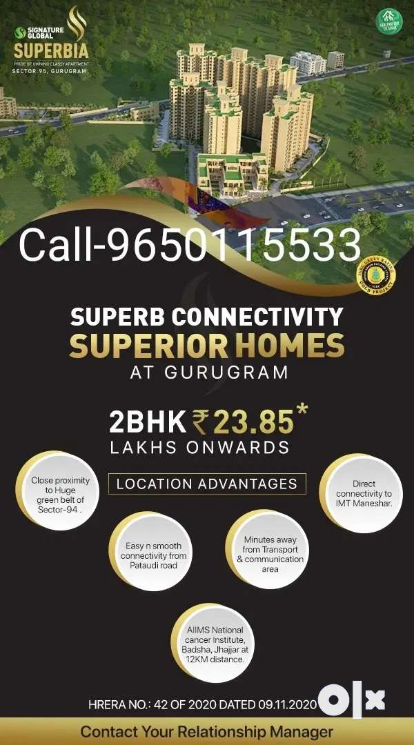 Get 2 bhk Flats at prime location Sohna Road 0