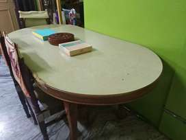 Six seater dining table with 05 chairs