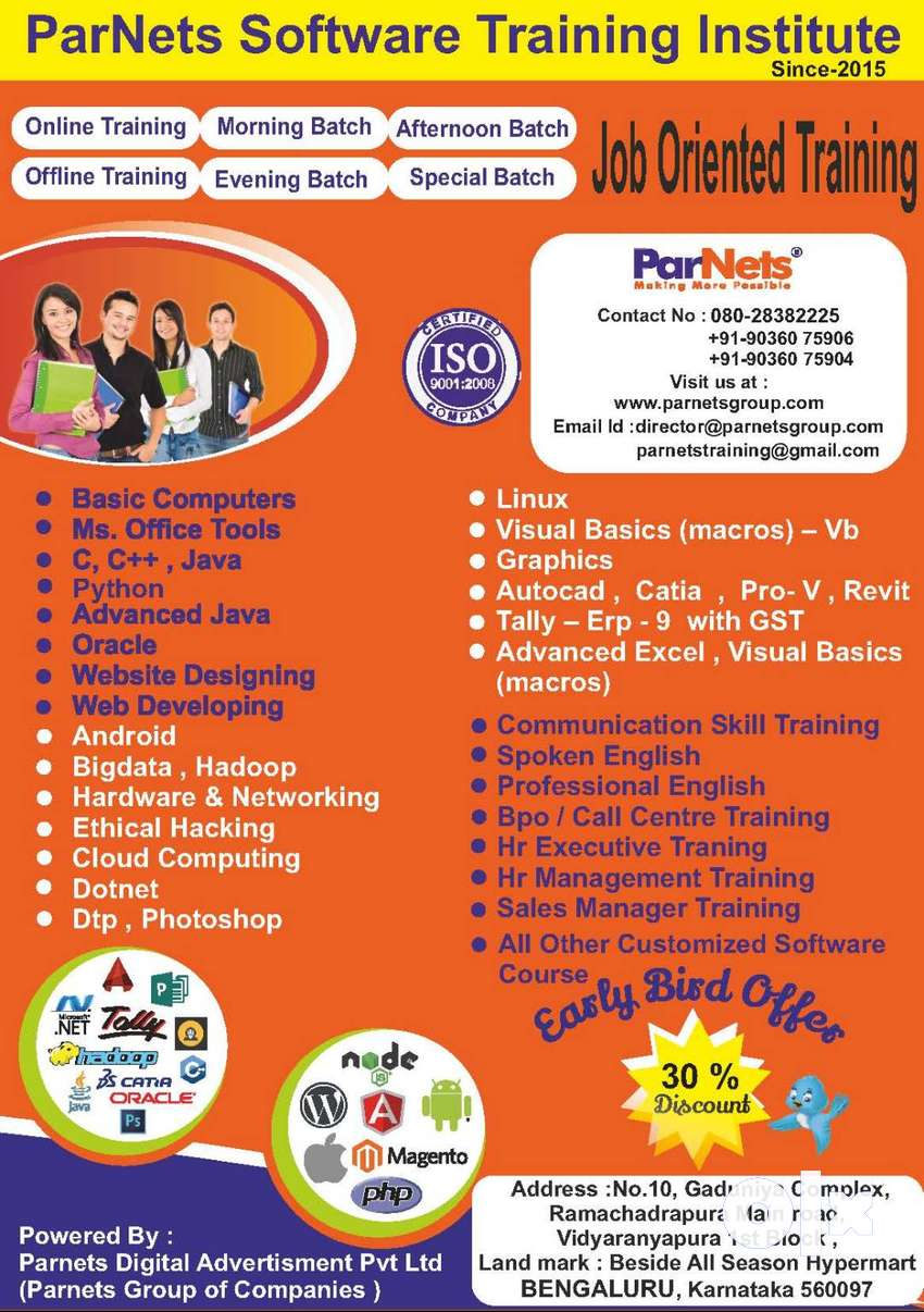 FREE Demo classes on all Software Courses, Tallly & GST, AUTOCAD  . 0