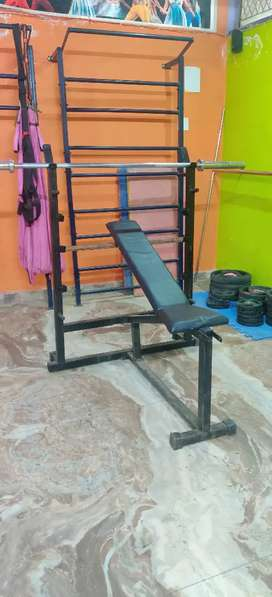 Incline and flat adjustable bench.