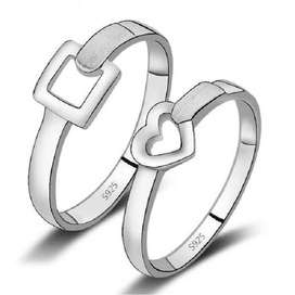 925 Silver Couple Rings