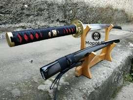 Pedang samurai katana tsuba motif naga