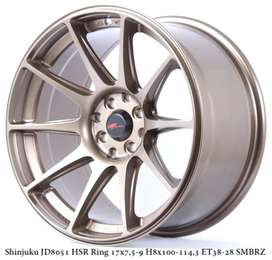 SHINJUKU JD8051 HSR R17X75/9 H8X100-114,3 ET38/28 SMBRZ