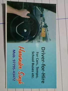 Any one need a driver ,car,bus,texi, truck etc.