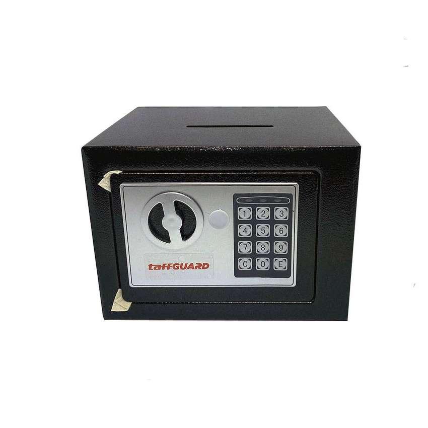 Brankas Mini Electric Password Deposit Box with Lubang Celengan 4.6L - 0