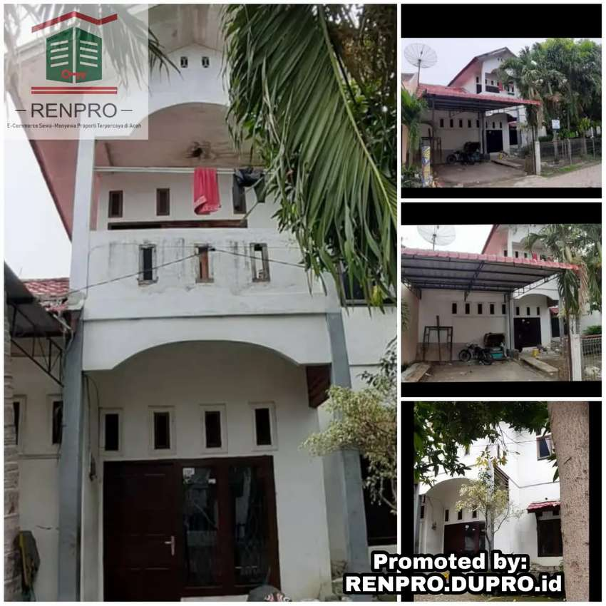 Sp Surabaya - Sewa Rumah 4 KT 2 KM 2 Lantai Hlman Luas Lok Kota B.Aceh