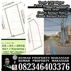 Tanah 1.201 Meter Jl Cut Nyak Dien Mamuju Poros Jln Cocok Bangun Ruko