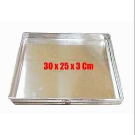 Loyang Tipis Oven Aluminium Uk 30 x 25 x 3 Cm