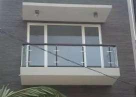 Sartika stel $5268 balkon kaca stainlis terbaru