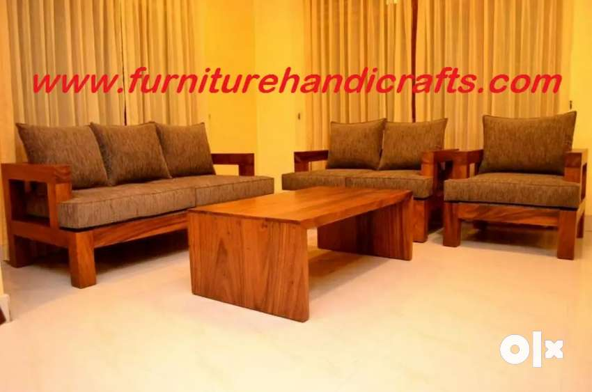 Brand new solid wooden five seater sofa