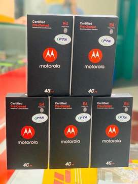 New Moto E4 box pack new dual sim Pta approved stock must read add