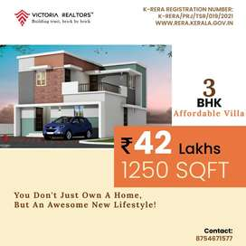 QUALITY HOME WITHIN YOUR BUDGET @3BHK INDIVIDUAL VILLA FOR SALE