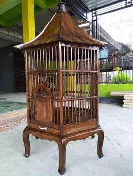 kurungan ayam atau burung dari kayu jati