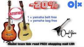 20% OFF- any type of guitars visit our brand store fo heavey discounts