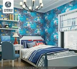 Decorasi wallpaper dinding harga sudah termasuk ongkos pasang
