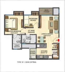 1.5 Bhk @ 45 lacs with coverd parking + 3lacs discount