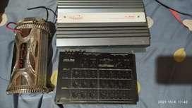 Crosover alpine + kapasitor + power